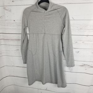 Soybu Athletic Long Sleeve Dress Small Gray Spande